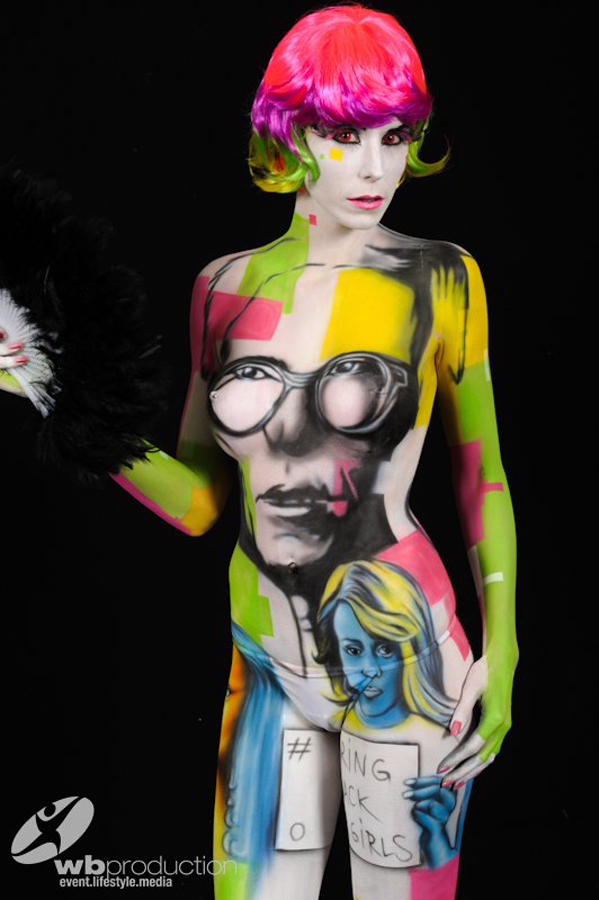STEEK's Bodypainting – Pop art 1