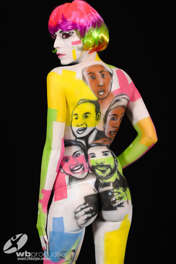 STEEK's Bodypainting – Pop art 2