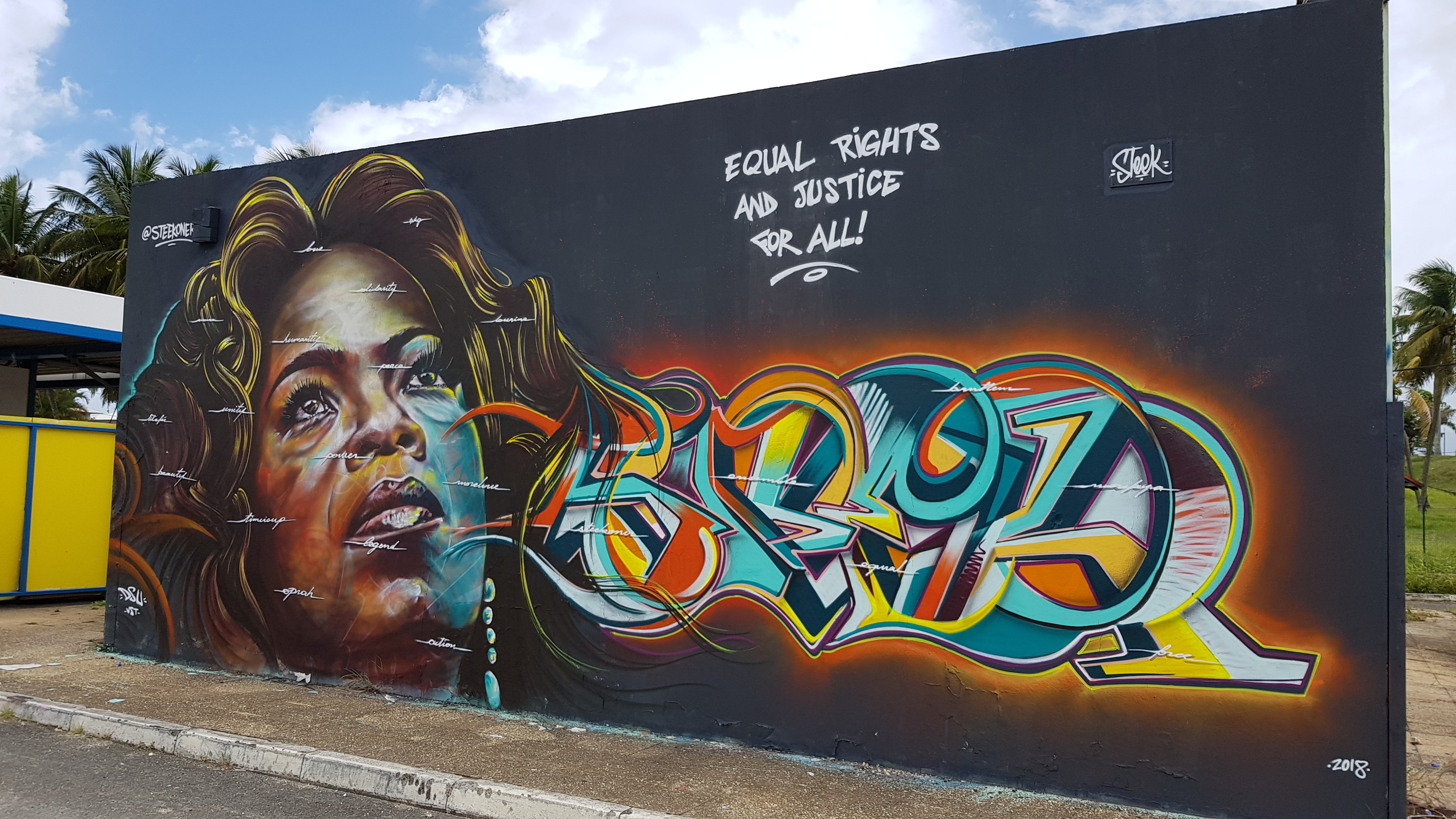 STEEK – Graffiti and Bodypainting Artist from Guadeloupe FWI