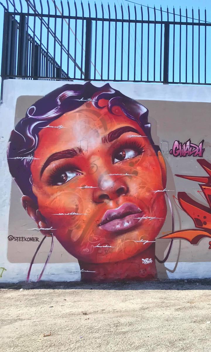 STEEK – Graffiti and Bodypainting Artist from Guadeloupe FWI Wynwwod 2017 Portrait HD