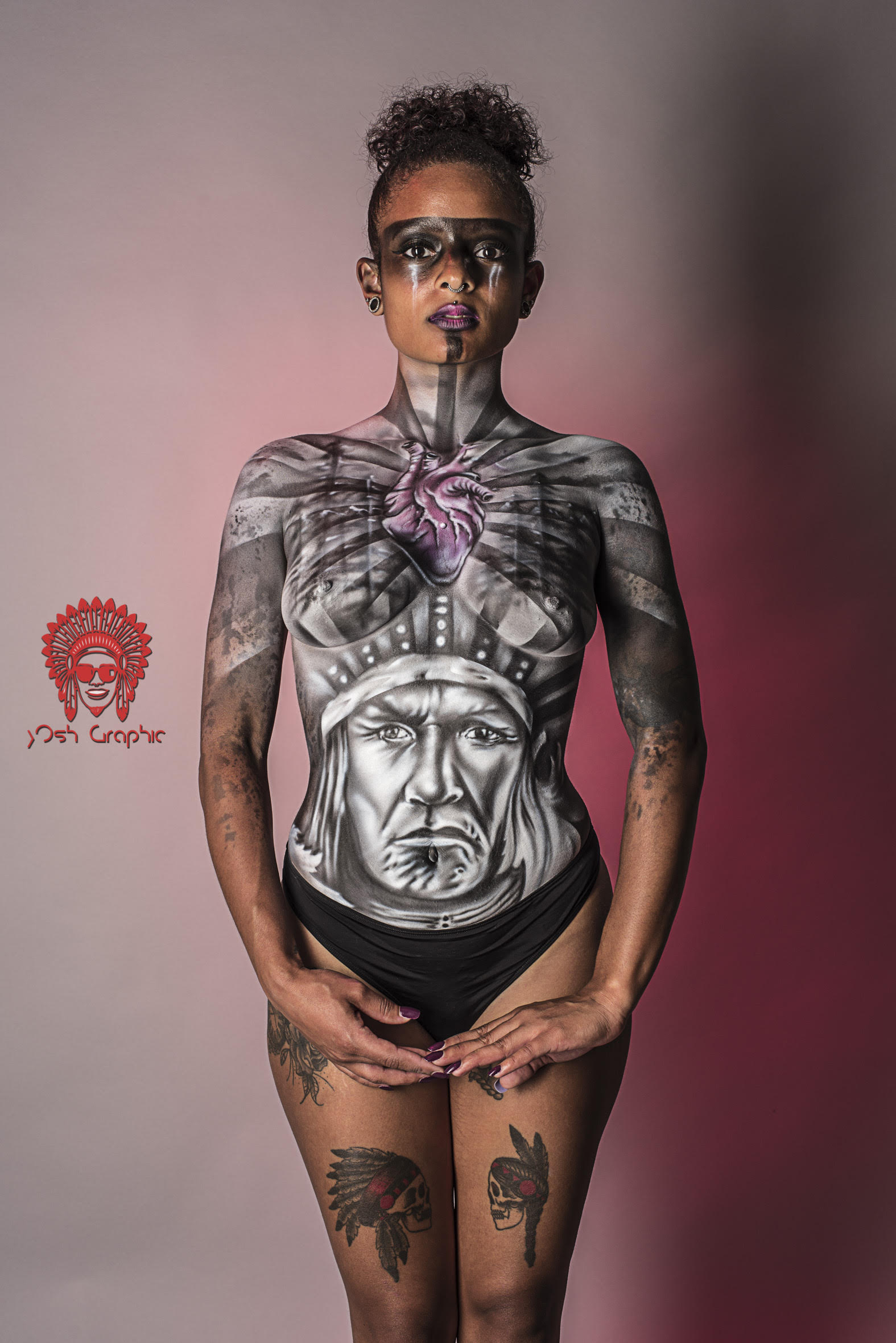 Steek Artiste Graffeur Steekoner Bodypainter Bodypainting